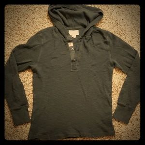 Denim & Supply Waffle Knit Sweatshirt w/ Hoodie